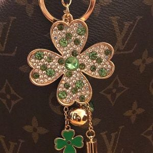 Bag Charm / Keychain 4-Leaf Clover- NEW